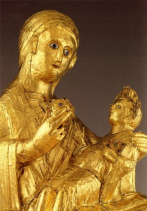 Golden Madonna of Essen (detail)