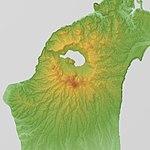 Golovnin Volcano (Tomari Volcano) Relief Map, SRTM-1.jpg