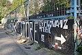 Graffiti guerilla marketing (Sur Skate Store) in Třebíč, Třebíč District.jpg