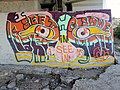 Graffiti in Winnipeg, Manitoba, Canada under the Redwood Hespeler Bridge. (44388826762).jpg