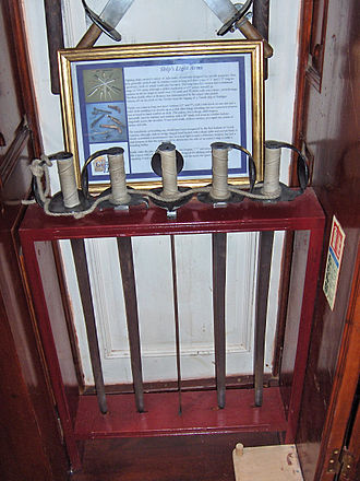 Cutlass - Cutlasses aboard the frigate Grand Turk