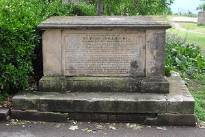 Richard Phillips (publisher) - Phillips is buried in this grave in the western extension of St Nicholas' Church burial ground, Brighton.
