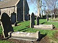 Graves in Spittal churchyard - geograph.org.uk - 309731.jpg
