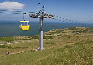 Llandudno Cable Car - Image: Great Orme cable car, Llandudno geograph.org.uk 1406487