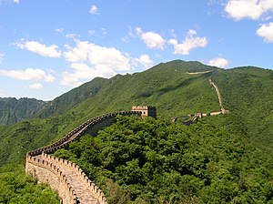The Great Wall of China, near Beijing in July ...