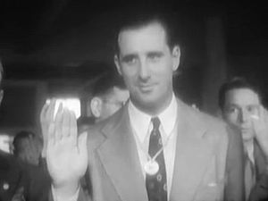 Hank Greenberg - Greenberg taking his oath of service