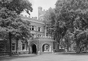 Glenside, Pennsylvania - National Historic Landmark Grey Towers Castle.