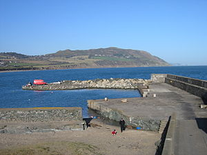 Bray Head - South side of Bray Head, viewed from Greystones harbour
