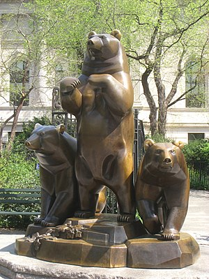 Group of Bears - The installation in Central Park