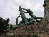Monument to Evaristo Churruca in Las Arenas.