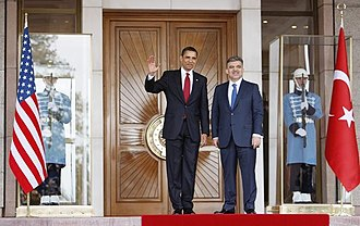 Abdullah Gül - Gül with U.S. President Barack Obama on Obama's first visit to Ankara, 6 April 2009.