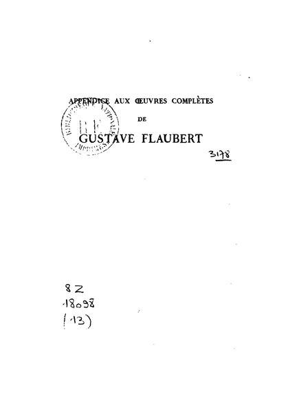 File:Gustave Flaubert - Œuvres de jeunesse, III.djvu