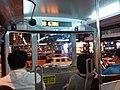 HK 中環 Central 畢打街 Pedder Street night 德輔道中 Des Voeux Road 香港電車 154 Tram upper deck interior October 2018 SSG 01.jpg