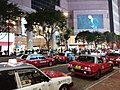 HK CWB 銅鑼灣 Causeway Bay 羅素街 Russell Street taxi stand night June 2019 SSG 01.jpg