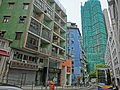 HK Mid-Levels Pokfulam Road April 2013 Lee Wai Building n construction site at 18-27 Hing Hon Road.JPG