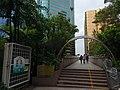 HK TST Kln Park entrance gate to footbridge Canton Road Nov-2015 trees DSC.JPG
