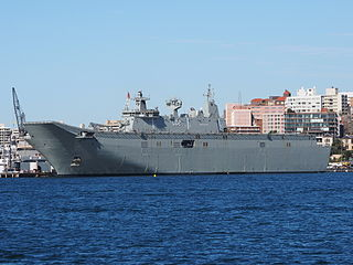 <i>Canberra</i>-class landing helicopter dock ship class