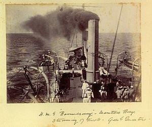 HMS Boomerang steaming in Moreton Bay 1890s.jpg