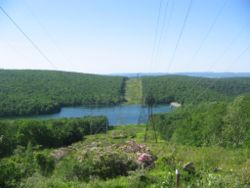 Hagermans Run Reservoir from PA Route 554, Armstrong Township