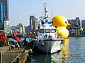 Hai Ying Shipped at Keelung Boats Pier Front View 20140107.JPG