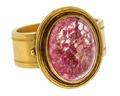 Halsduksring av guld med rosenkvarts - Hallwylska museet - 110207.tif