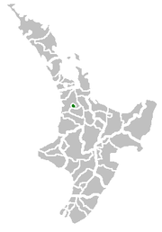 Location of the Hamilton Territorial Authority的位置