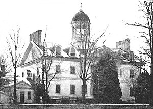 Hampton National Historic Site - Hampton Mansion in 1861