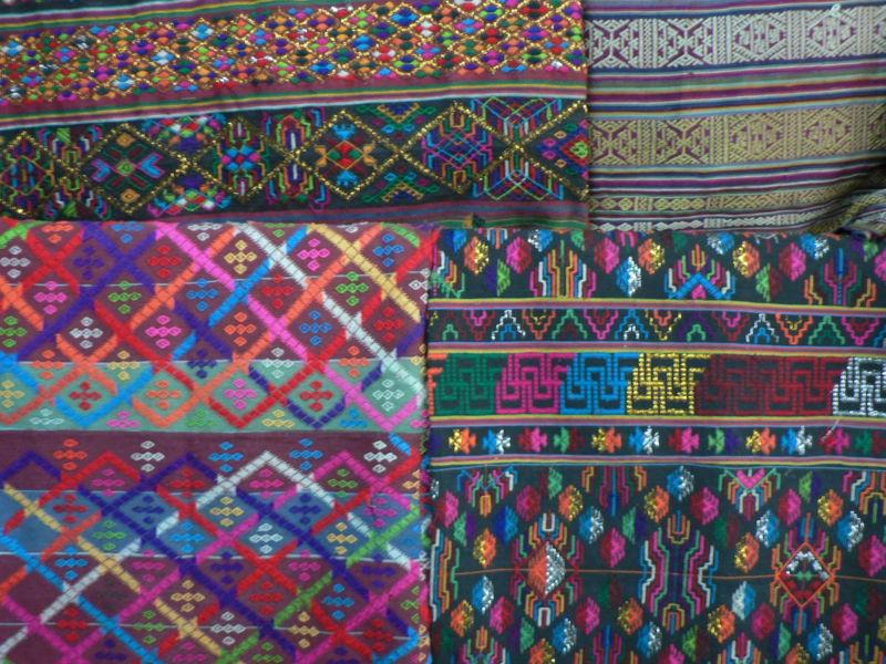 File:Hand woven Bhutanese fabrics, Bumthang.jpg