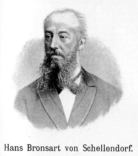 The portrait of Bronsart von Schellendorf from a book of 1893. Hans Bronsart von Schellendorff.jpg