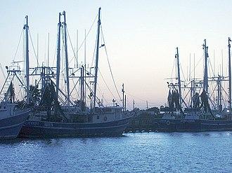 Matagorda Bay - Shrimping boats in Palacios