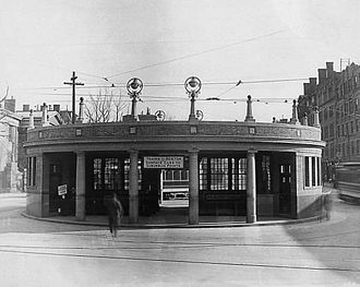 Harvard Square Subway Kiosk - The original 1912-built headhouse, which was replaced in 1928
