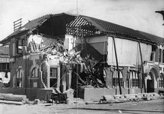 1931 in New Zealand - Damage to the Hastings Post Office inflicted by the Hawke's Bay earthquake
