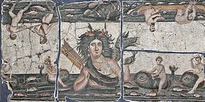 Thalassa (mythology) - A 5th century Roman mosaic of Thalassa in the Hatay Archaeological Museum
