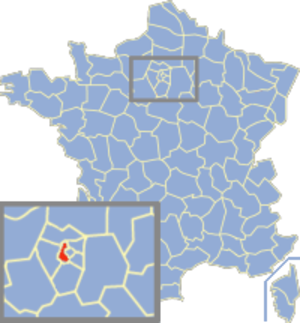 Communes of the Hauts-de-Seine department - Image: Hauts de Seine Position