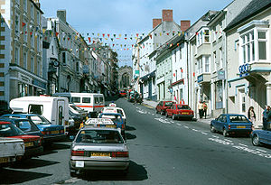 Chelsea Manning - High Street, Haverfordwest, Wales, where Manning went to secondary school
