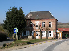 The town hall in Havernas