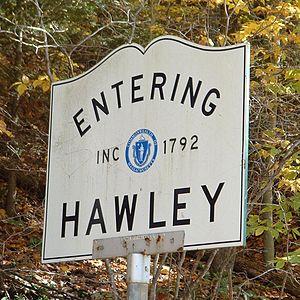 Hawley, Massachusetts - Entering Hawley