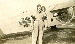 Hearst Metrotone News - Hearst Metrotone News airplane (from Lizotte Family photo album)