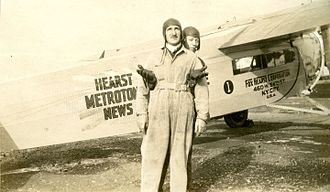 Hearst Metrotone News - Hearst Metrotone News airplane (from Lizotte Family photo album)