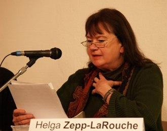 Schiller Institute - Helga Zepp-LaRouche