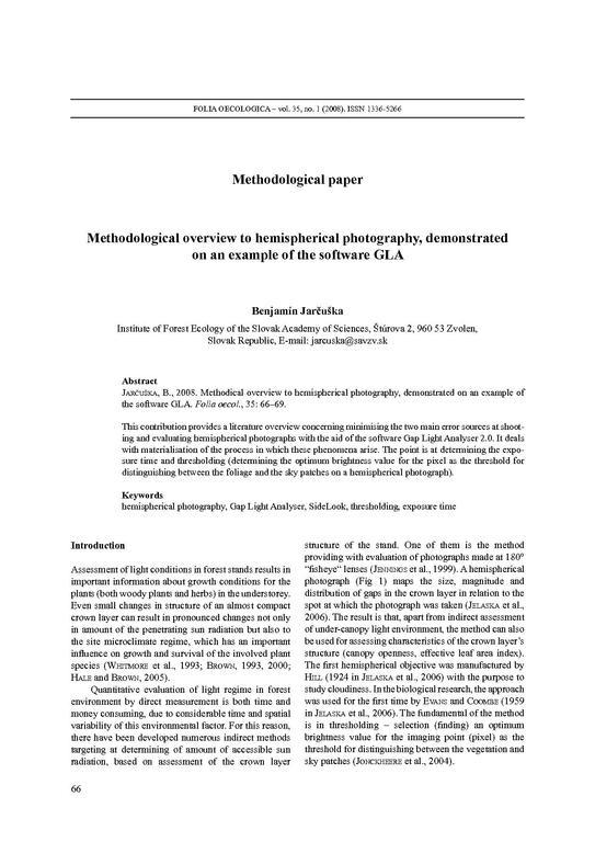 methodological essay