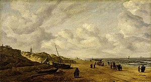 Hendrick van Anthonissen - Image: Hendrick van Anthonissen View of Scheveningen sands before restauration in 2014