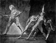 Hamlet, Horatio, Marcellus, and the Ghost of Hamlet's Father. Henry Fuseli, 1780–1785. Kunsthaus Zürich. (Source: Wikimedia)