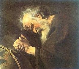 Heraclitus geschilderd door Johannes Moreelse