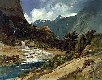 Hetch Hetchy - William Keith, Hetch Hetchy Side Canyon, I, c. 1908