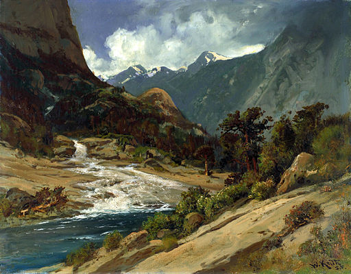 Hetch Hetchy Side Canyon, I, by William Keith, c1908
