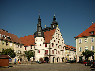 Hildburghausen - Town hall on the main square