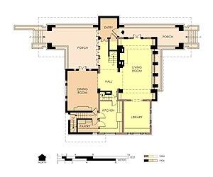 Edward R. Hills House - First floor plan