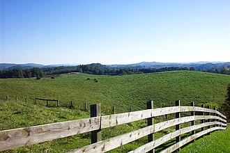 Floyd County, Virginia - Rolling hills of Floyd County.