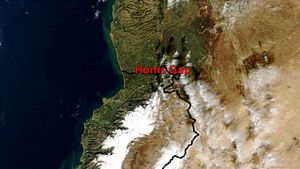 Homs Gap - Image: Hims Gap sat